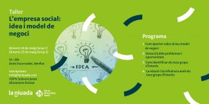 "Taller ""L'empresa social: idea i model de negoci"""