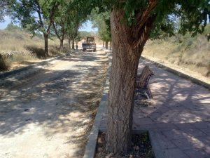 Obres de millora del camí de l'Adjutori (juny de 2012)