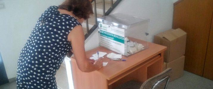 Veïna dipositat proposta a l'urna de l'Ajuntament