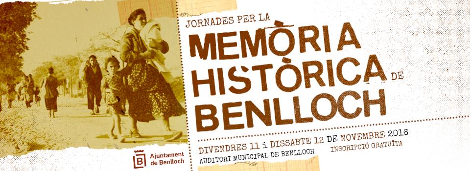 Jornades per la Memòria Històrica de Benlloch