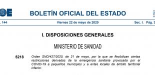 Flexibilització de restriccions a petits municipis