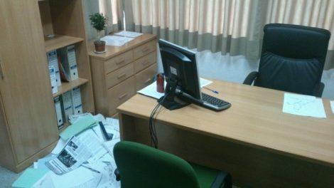 Despatx d'Alcaldia de Benlloch regirat