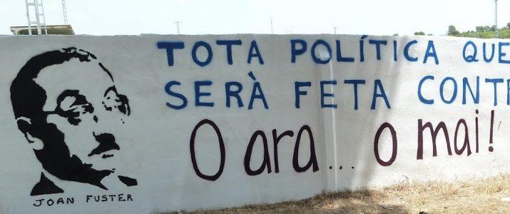 Mural del Feslloch 2012 que es pretén restaurar en festes