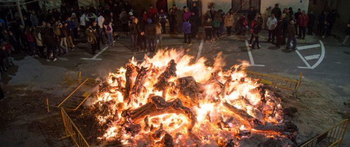 Foto de la foguera de Sant Antoni