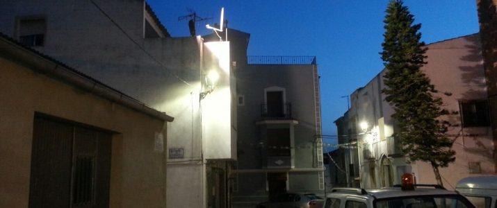 Proves amb lluminàries Led al centre de Benlloch