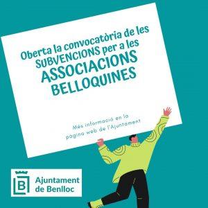 Subvencions Associacions Belloquines 2021