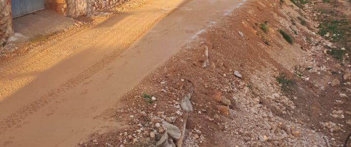 Reparació d'urgència als voltants del Barranc de la Font
