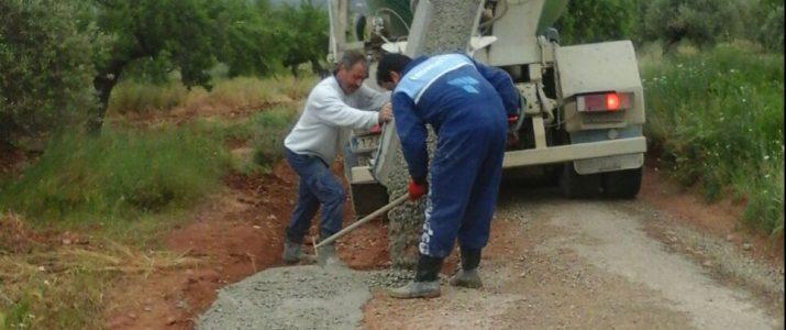 Reparació camí Serraes per part dels caçadors