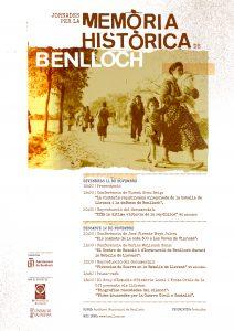 Cartell de les Jornades per la Memòria Històrica de Benlloch